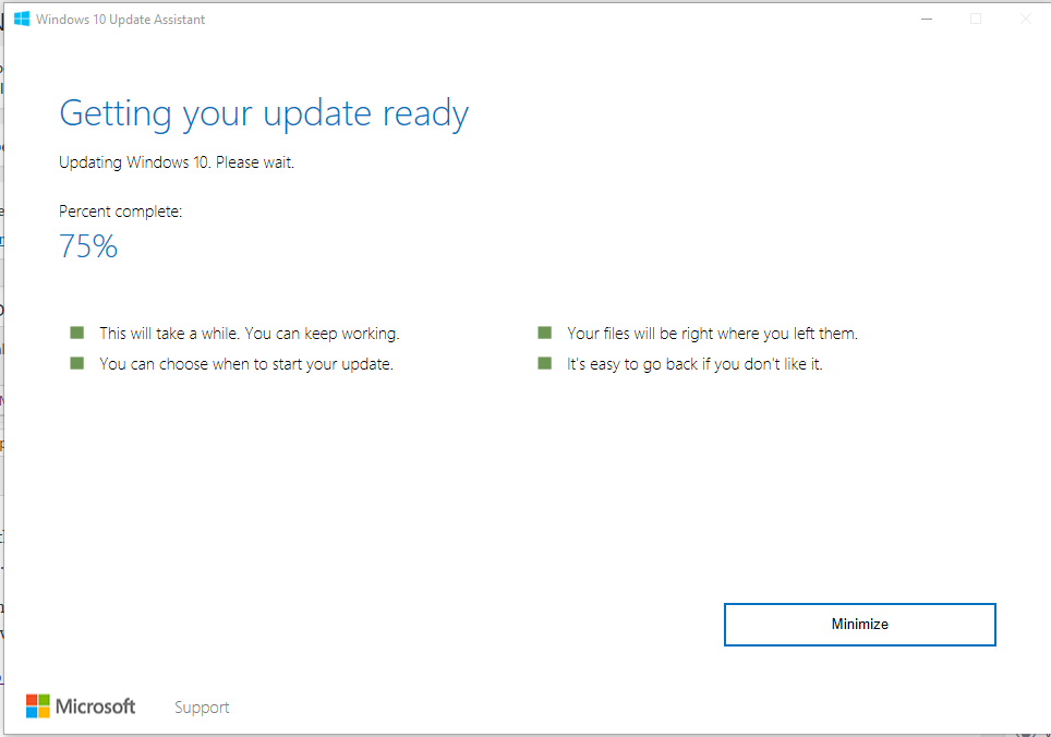 Microsoft has released the installer for the Creator update
